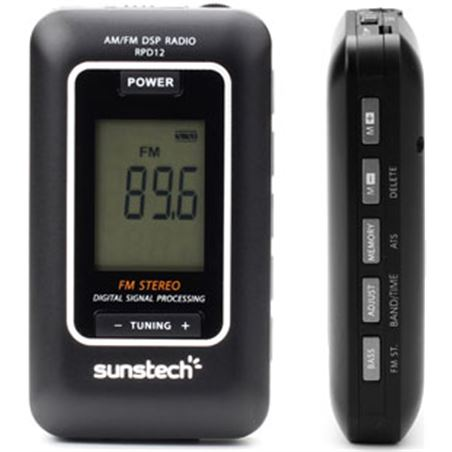 Radio portatil Sunstech RPD12bk digital negra