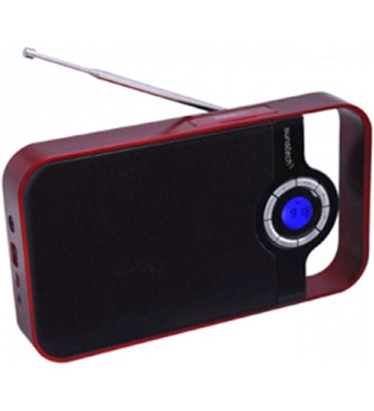 Radio digital Sunstech rpds250 portatil rojo usb - RPDS250
