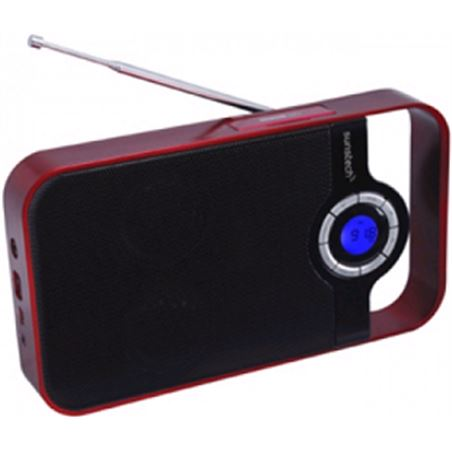 Radio digital Sunstech rpds250 portatil rojo usb RPDS250RD