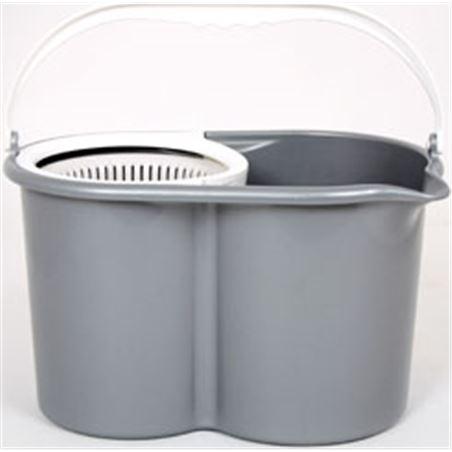 Fregona+cubo/centrifuga Duett 900GR gris