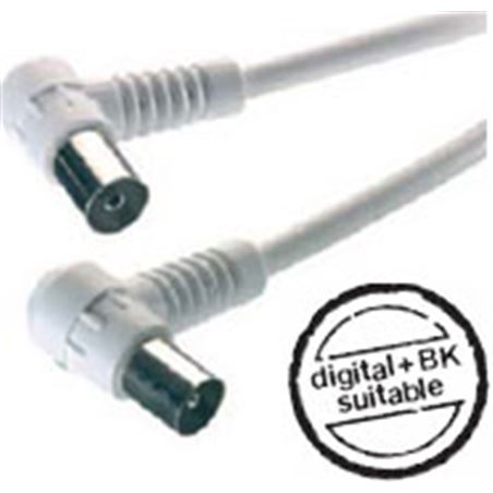 Cable antena Vivanco 7/58 wn acod.90db 5m blanco 7/58 ws-n-43035