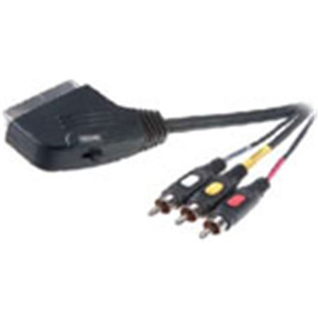 Cable euroconector Vivanco 9/84n 3rca 2mt 42017