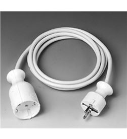 Cable prolong.corriente Vivanco skv3w 3mt blanco 7280 - SKV-3W-07280