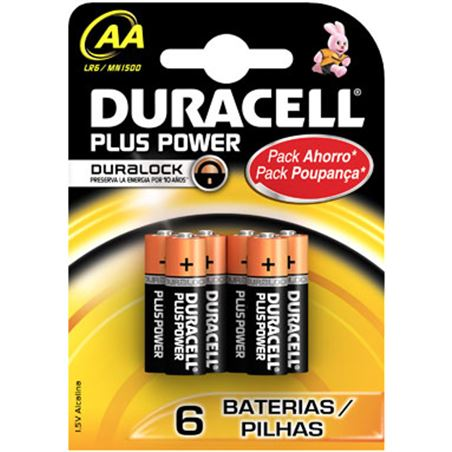 Pilas Duracell plus power aa(lr06) 4kp alcalinas aa(lr06)ppower