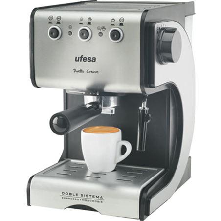 Cafetera expres Ufesa ce7141 dueto creme nueva UFECE7141