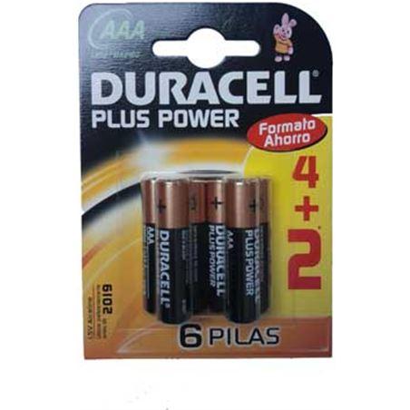 Pilas Duracell plus power aaa(lr03) 4kp alcalinas LR03K4