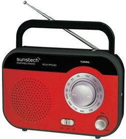 Radio portatil Sunstech RPS560RD roja Radio y Radio/CD - RPS560RD