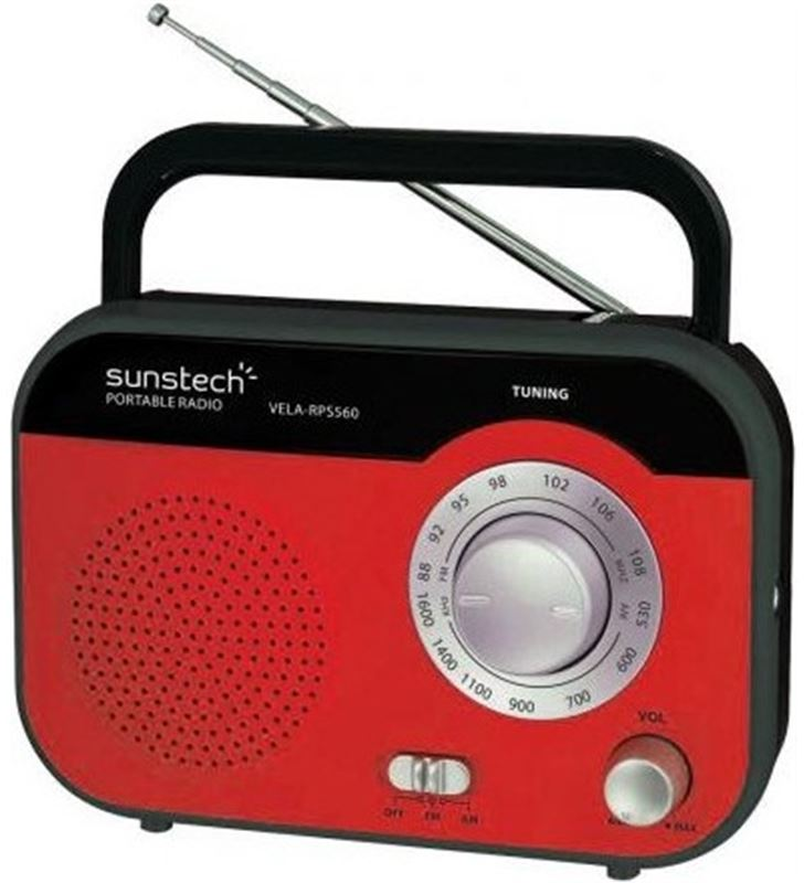 Radio portatil Sunstech RPS560RD roja - RPS560RD