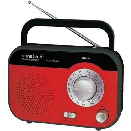 Radio portatil Sunstech RPS560RD roja
