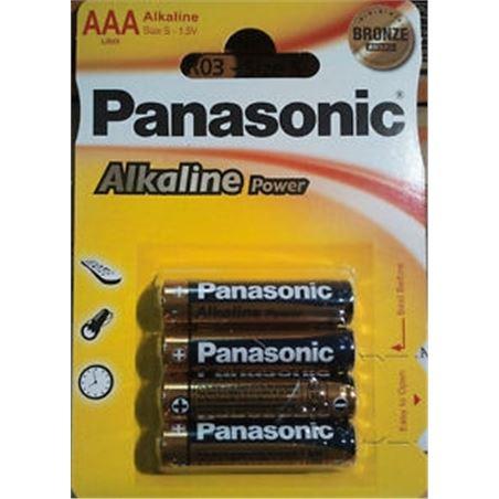Pilas alcalinas Panasonic 1.5v lr03 ap ( 4-blis PANLR03_4