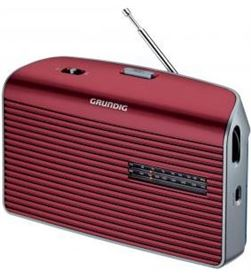 Radio portatil Grundig music60 roja (GRN1540) Radio y Radio/CD - GRN1540