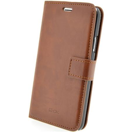 Blautel funda 4-ok wallet con tarjetero iphone 6 plus marr fwi6pm