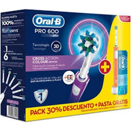 0000456 cepillo dental braun*p&g oral-b duopro600 cross ac