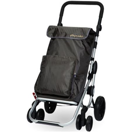 Playmarket carro compra play plegable go plus gris marengo 24925223