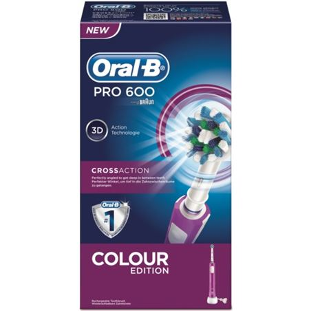 Cepillo dental Braun pro600 cross action morad PRO600MORADO