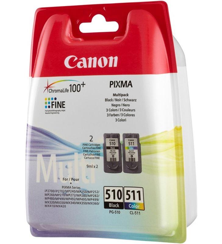 Cartucho de tinta Canon pg510-cl511 pack colores 2970B011 - 2970B011
