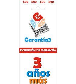 Para productos hasta 500eur. extensión de garantía de tres años adicionales - G3ES500