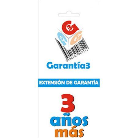 Para productos hasta 2000eur. extensión de garantía de tres años adicionales