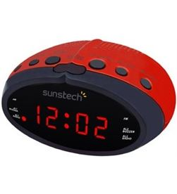 Radio despertador Sunstech FRD16RD rojo Radio y Radio/CD - FRD16RD