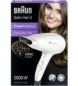 Secador Braun HD380 2000w blanco Secador de pelo - HD380