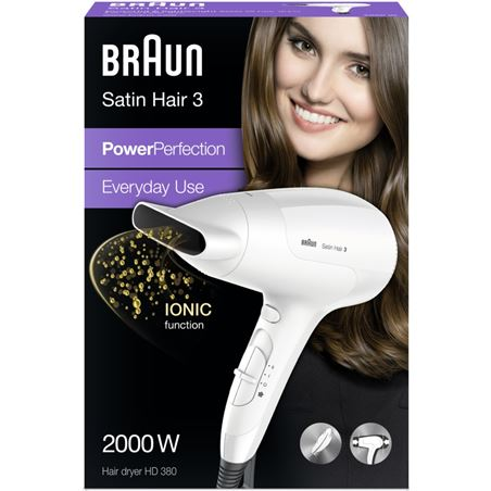 Secador Braun HD380 2000w blanco