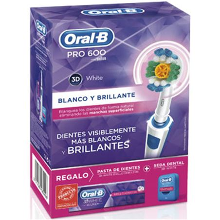 Cepillo dental Braun oral b pro600wh+pasta+sed PACKPRO600WHITE