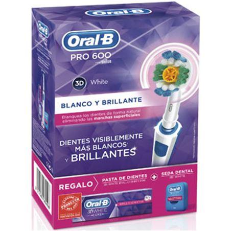 Cepillo dental Braun oral b pro600wh+pasta+sed PACKPRO600WHITE