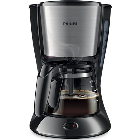 Cafetera goteo Philips hd7435/20 4-6t negra/metal