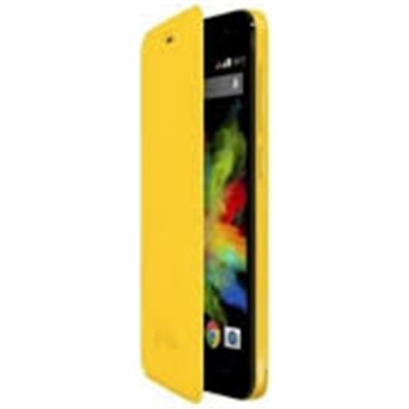 Funda con tapa Wiko bloom amarillo 103253