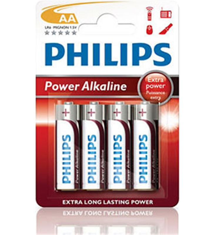 Pilas alcalinas Philips 1.5v aa lr6 LR6P4B/10 Ofertas - LR6P4B-10