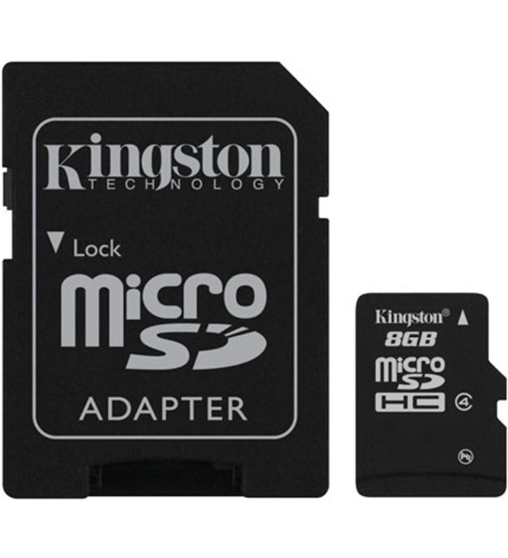 Tarjeta micro sd 8gb Kingston sdhc class 4 KGMEX140 - SDC48GB