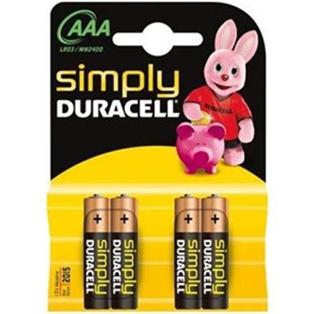Piles Duracell aaa(lr03) simply 4kp AAAMN2400BASICB
