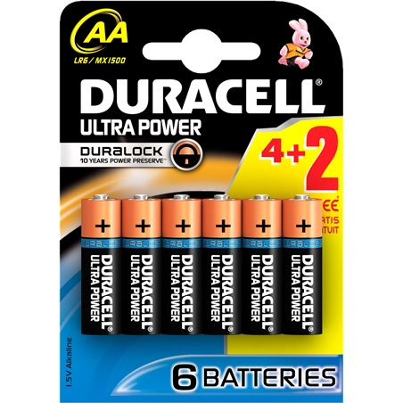 Pilas Duracell ultra power aa(lr06) 6 pack AALR06ULTRA6
