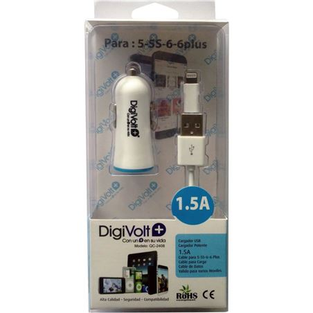 Digivolt caragdor coche+cable ip5/6 1500a 2408 qc2408