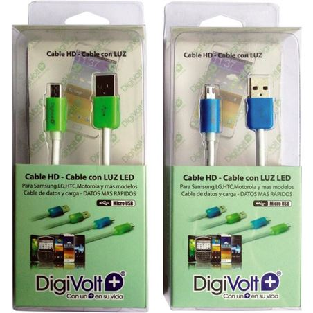 Digivolt cable hd con led para micro-usb 8206l cb8206l