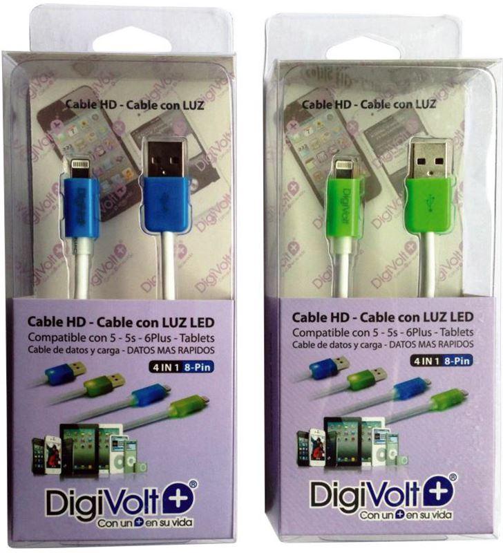 Digivolt cable hd con led para ip5/6 8205l (200) cb8205l - CB-8205L