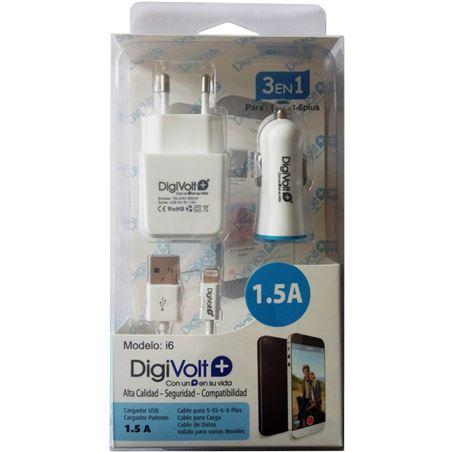 Digivolt cargador i6 1.5a 3en1 para movil 5/6(100