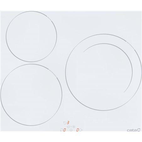 0001015 cata placa inducción ib603wh 3fuegos 60cm blanca 08073002