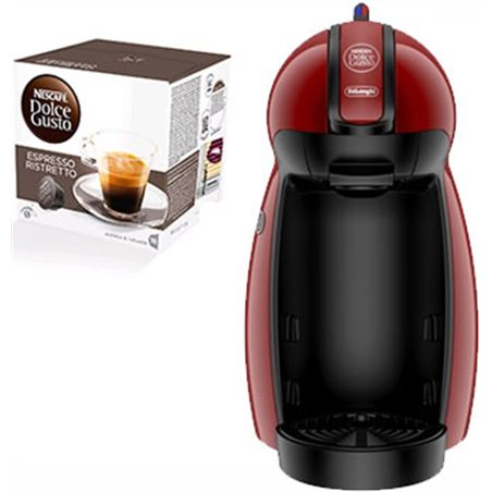 Cafetera + paq cafe dolce gusto Delonghi edg200r piccolo ro PACKEDG200R(3P)