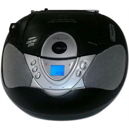 Radio cd Nevir nvr474u mp3 usb negra NVR474UN