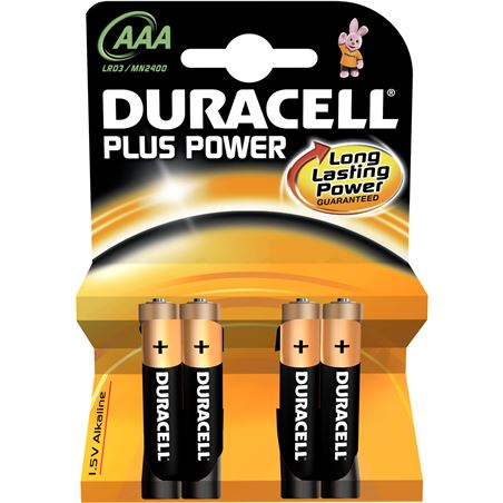 Pila Duracell plus power aaa(lr03) 4+2kp alcalina LR03K4