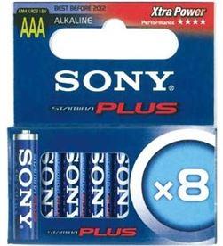 8 pilas alcalinas Sony plus lr3 aaa 1,5v SONAM4M8D - 008562014336