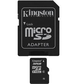 Tarjeta micro sd 32gb Kingston SDC4/32GB+adaptador - SDC432GB