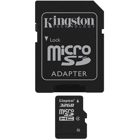 Tarjeta micro sd 32gb Kingston SDC4/32GB+adaptador