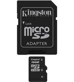 Tarjeta micro sd 16gb Kingston SDC4/16GB+adaptador - SDC416GB