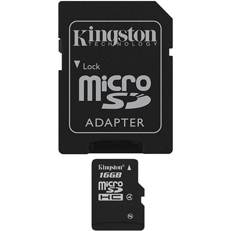 Tarjeta micro sd 16gb Kingston sdc4/16gb+adaptador