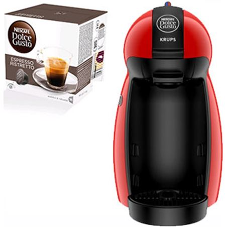 Cafetera+paq cafe dolce gusto Krups piccolo roja PACKKP1006(3P)