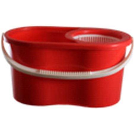 Fregona+cubo/centrifuga Duett 300mo mini rojo 300RJ