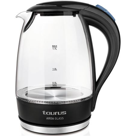 Hervidor agua Taurus aroa glass 1.7l cristal 958.511