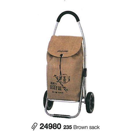 Playmarket carro compra play go two eco marron (tejido saco) 24980235